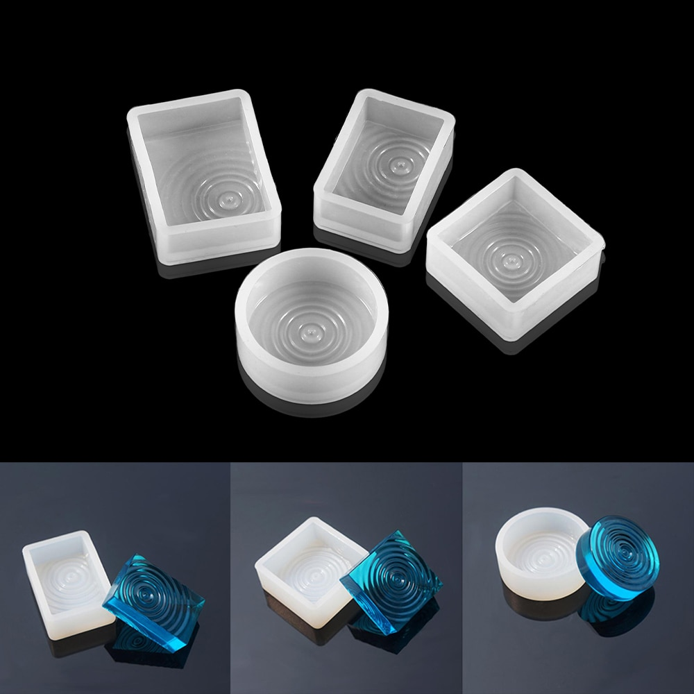 Pendant Silicone Mold Epoxy Resin Pendants Wave Shapes Resin Casting Molds For DIY Jewelry Making Clay Epoxy Resin Tools demixing pendant resin mold silicone mold casting molds epoxy uv jewelry making moulds jewelry making jewelry tools