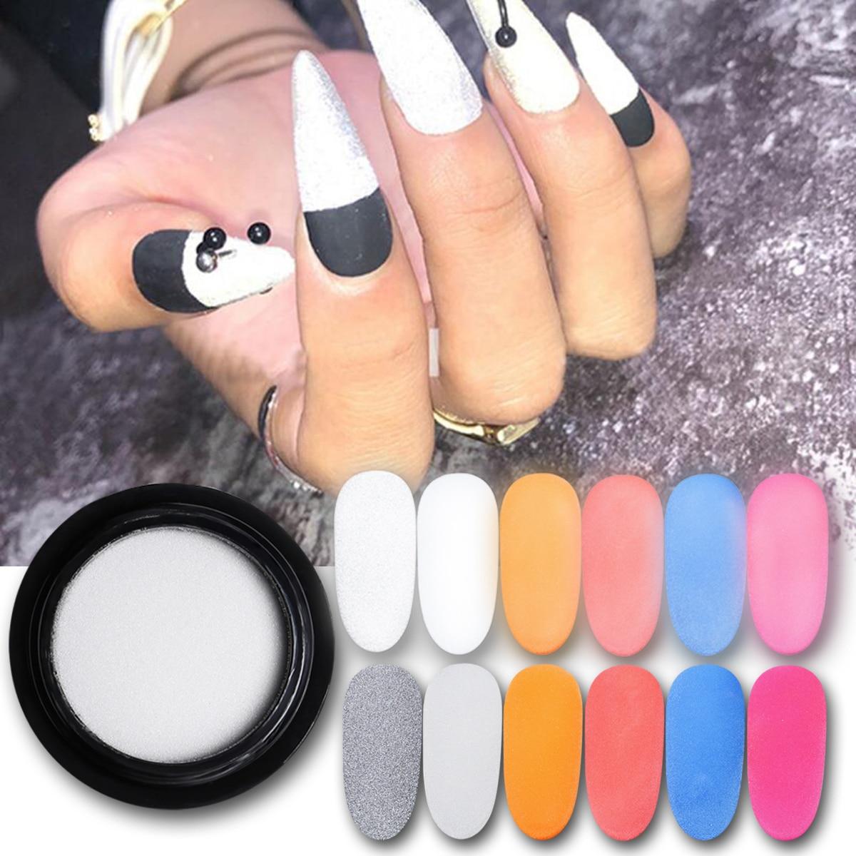 2 uds 2g polvo de uñas reflectante Nightclub encantos uña holográfico, con brillo cromo pigmento polvo DIY Nail Art Decoración