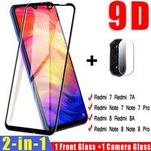 2 In 1 Camera Lens Gehard Glas Voor Xiaomi Redmi Note 7 8 Pro 8T Screen Protector Op De voor Redmi 8 8A 7 7A Beschermende Glas