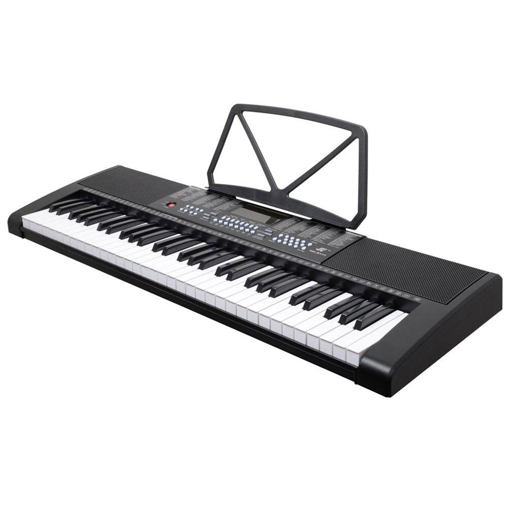 MK-2117 255 Timbres 255 الإيقاعات لوحة المفاتيح الإلكترونية 61 مفاتيح LED عرض جهاز إلكتروني 3-Step درس بيانو رقمي