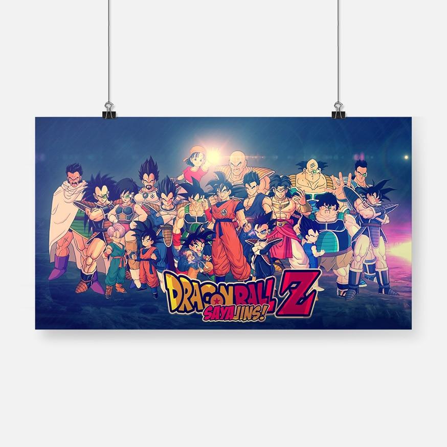 Dragon Ball Z Goku Goten bañadores Vegeta Poster lienzo decoración de arte de la pared impresiones dormitorio sala de estar dormitorio decoración pintura