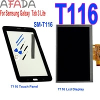 7lcd for samsung galaxy tab 3 lite sm t116 t116 wifi version lcd display touch screen digitizer replacment with free toolstape