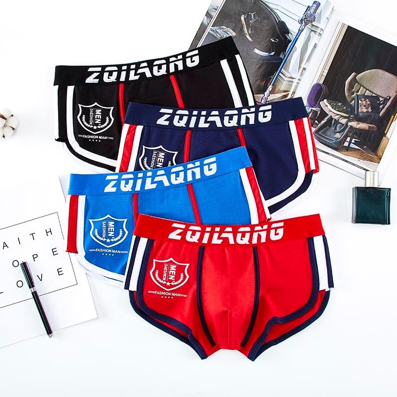 4 pcs/lot New Mens Underwear Boxer Men Cotton Boxers Hombre Print Cuecas Masculina Boxershorts Man Panties Homme Size M-3XL 2022