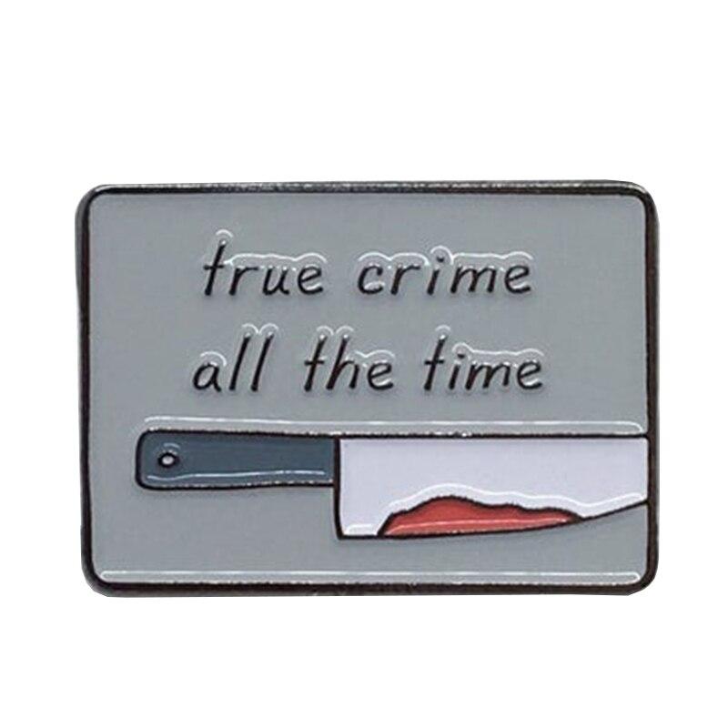 Verdadeiro crime o tempo todo esmalte pino