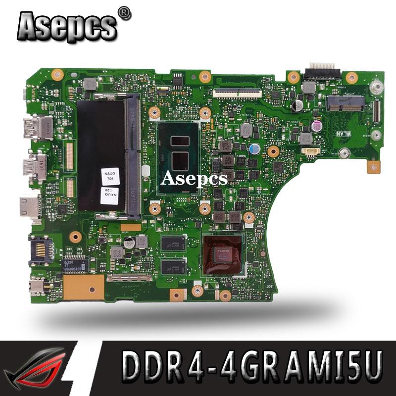 Asepcs X556UV Laptop motherboard para ASUS X556UQ X556UV X556UB X556UR X556U X556 Teste mainboard original DDR4-4G RAM I5-CPU