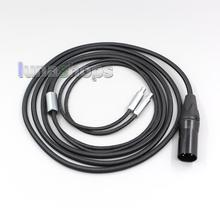 XLR сбалансированный плетение ткань OD 5 мм OCC чистое серебро покрытием кабель для наушников для Sennheiser HD800 D1000 HD802 HD802s HD800s LN006119