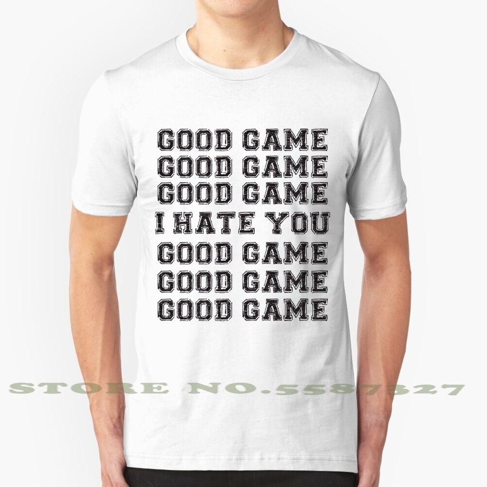 Goede Spel. Ik Haat U. Fashion Vintage Tshirt T Shirts Sport Spurs Blackhawks Warmte Voetbal 49Ers Packers Heiligen Broncos Texans