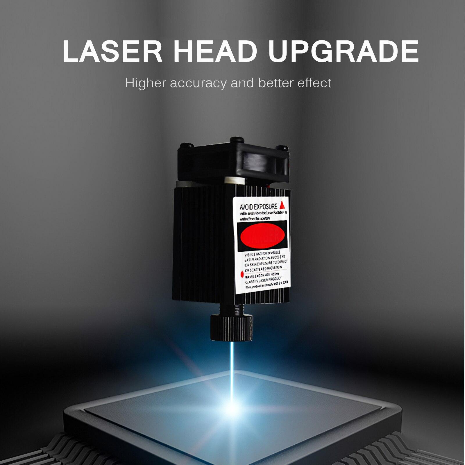 3000mw Mini CNC Machine Desktop Laser Engraver Household Desktop Printer Portable Engraver Machine Laser Engraving Cutter enlarge