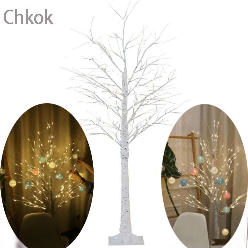 Chkok Lndoor Glowing Tree Lights LED Silver Birch Lights Christmas Home Decoration Fairy Lights Creative Christmas Tree Lighting