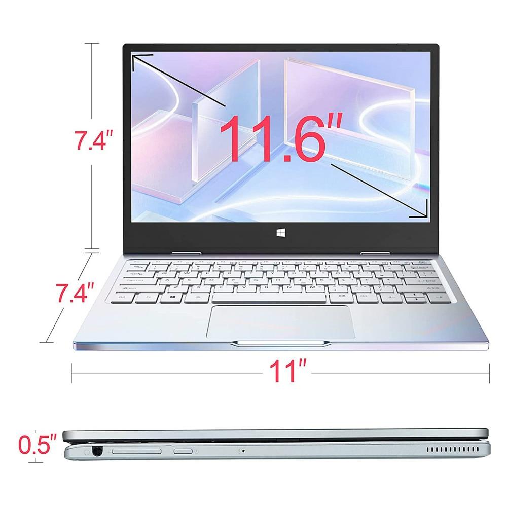 "11.6"" Touch Screen Laptop Quad Core Intel N4100 8GB LPDDR4 RAM 256GB SSD Gemini Lake 360 Rotating 1920*1080 Slim Notebook PC IPS"