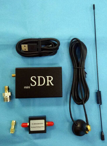 10 KHz-2 GHz HF UHF, VHF UV de banda ancha SDR receptor jugar + FM Bandstop Filter