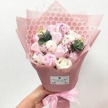 Flone Rosa Artificial ramo de jabón floral regalo de día de la madre Rosa decoración floral para Bodas de Día de San Valentín, regalo de cumpleaños