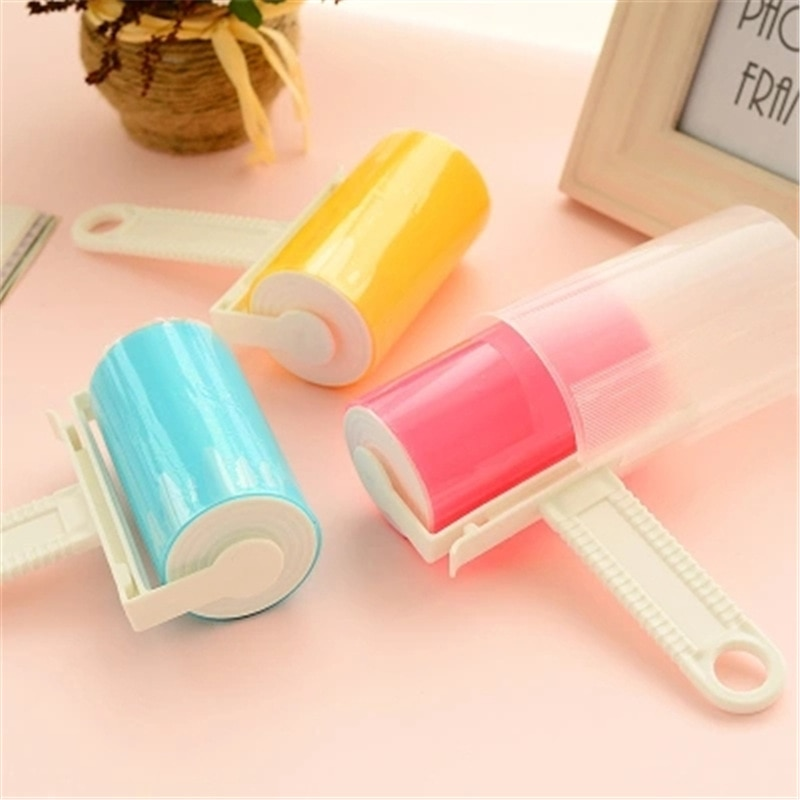 Reusable Lint Remover Washable Silicone Dust Wiper Sticking Roller for Clothes Pet Hair Cleaning Household Dust Wiper Tools