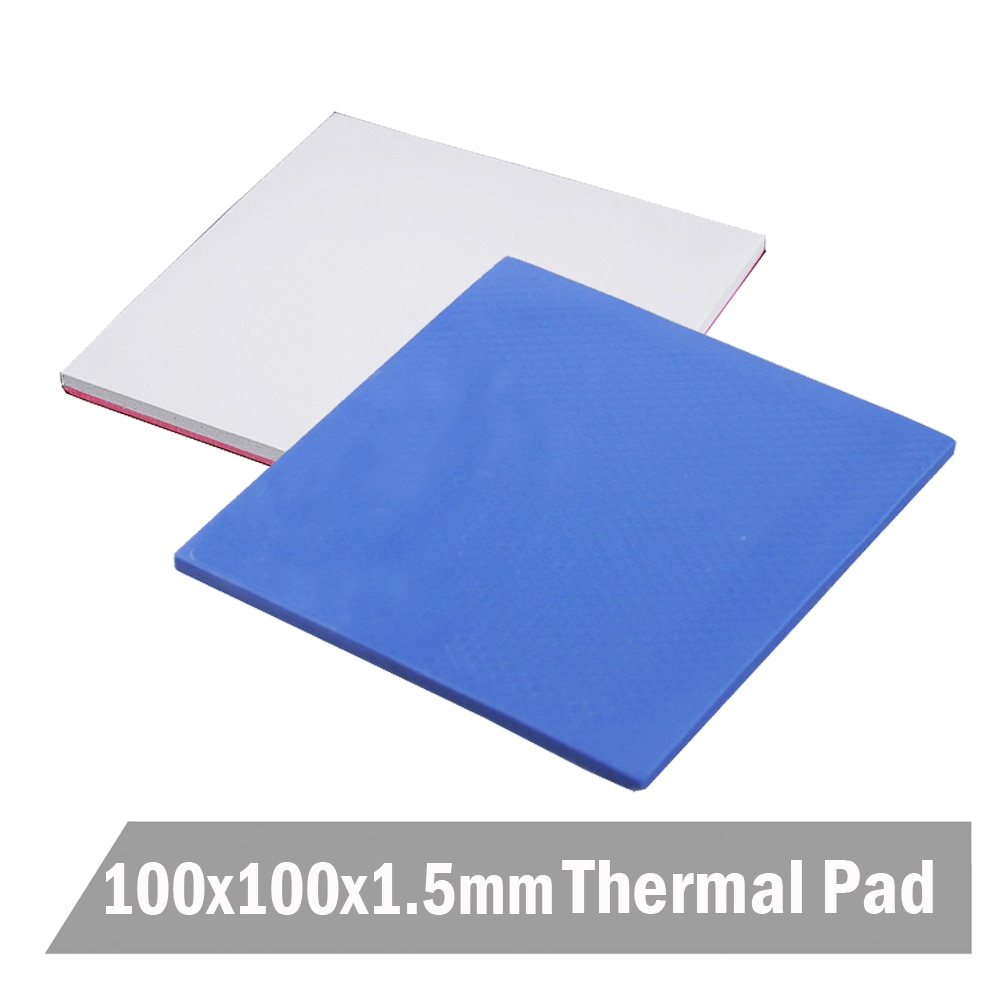 20pcs/set 100x100x1.0MM Blue&white Silicone Conductive Heatsink Thermal Pad Pads 10 pcs to 220 silicone thermal heatsink insulator pads w insulating particles for lm78xx lm317 tdaxx