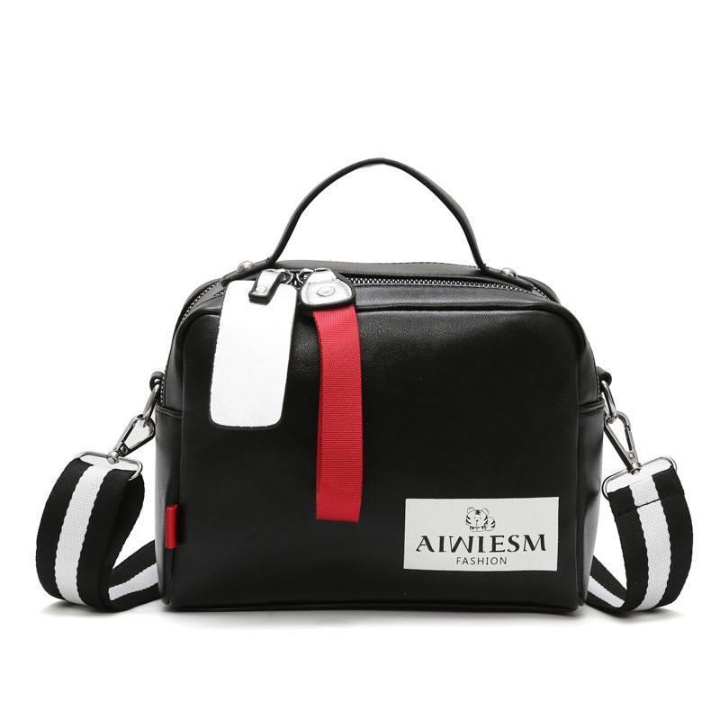 2020 Large Capacity Boston Women's Handbag Oblique Shoulder One Shoulder Luxury Handbag Ladies Messenger Bag Wide Shoulder Strap