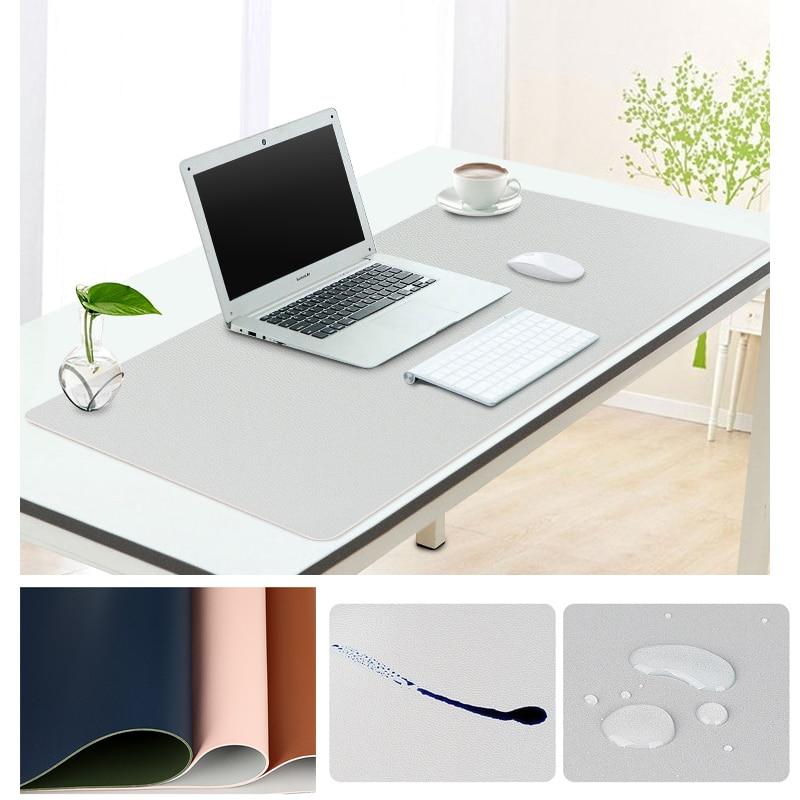 Alfombrilla de escritorio grande para ordenador portátil, alfombrilla antiincrustante de cuero PU, doble cara, 60x3 0/80x4 0/90x4 0/100x44cm