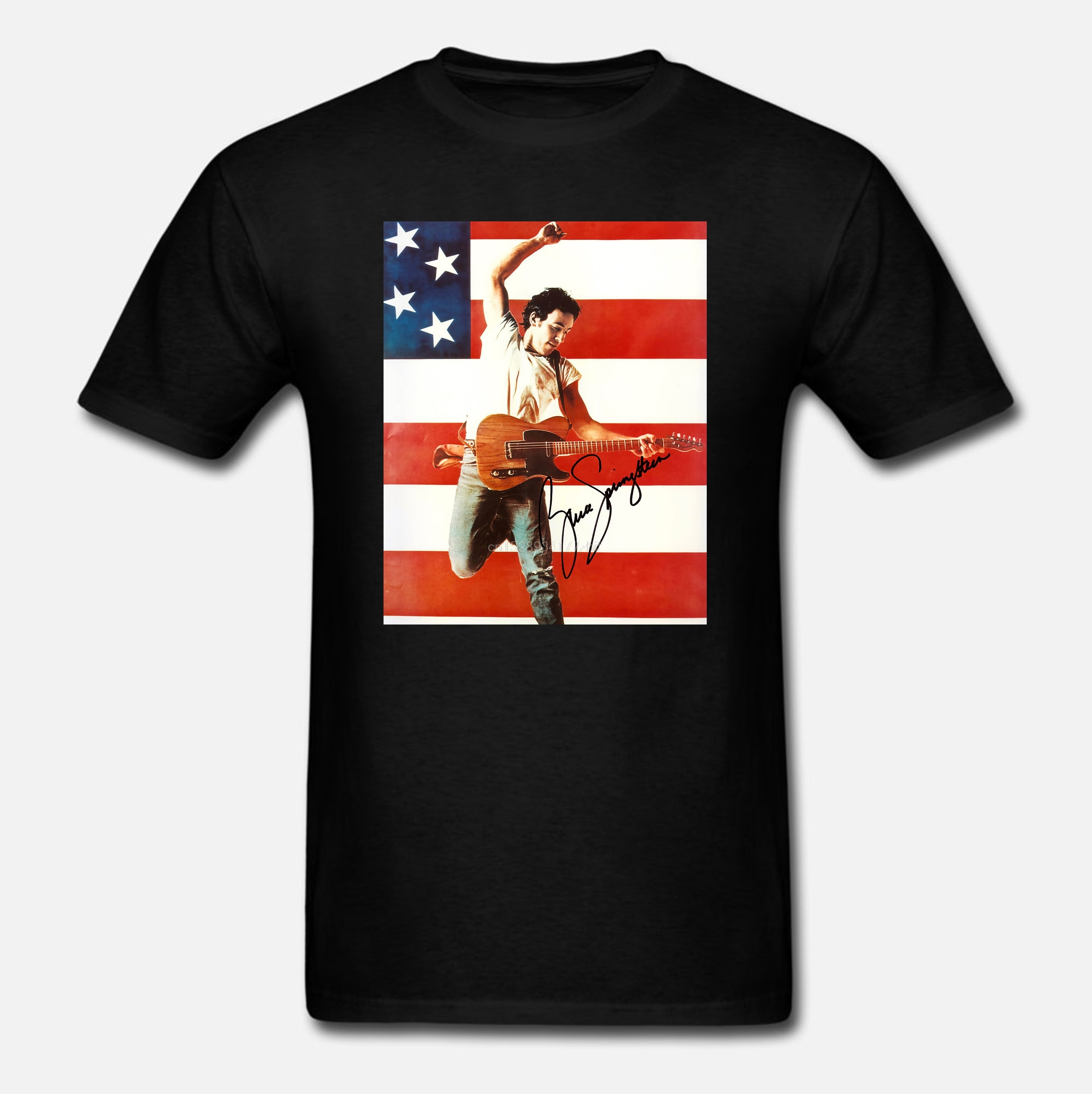 Camiseta a la moda de verano para hombre, Camiseta estampada con Springsteen Born In The USA, divertida camiseta novedosa, camiseta para mujer 1