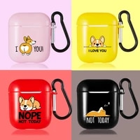 corgi solf silicone case for airpods 1 2 pro cases shockproof bluetooth wireless headphone earphone protective cover accessories