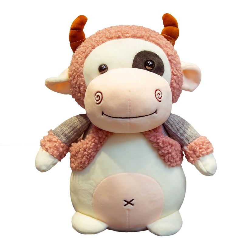 25/35/45cm Super Soft Lovely Stuffed Cattle Plush Toys Cute Animals Milk Cow Plush Doll Kids Baby Huggable Toy Cartoon Gifts  - buy with discount