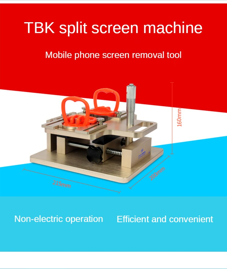 TBK-928 LCD touch screen Dismantle Machine for Samsung A-frame Separator Manual precision demolition machine enlarge