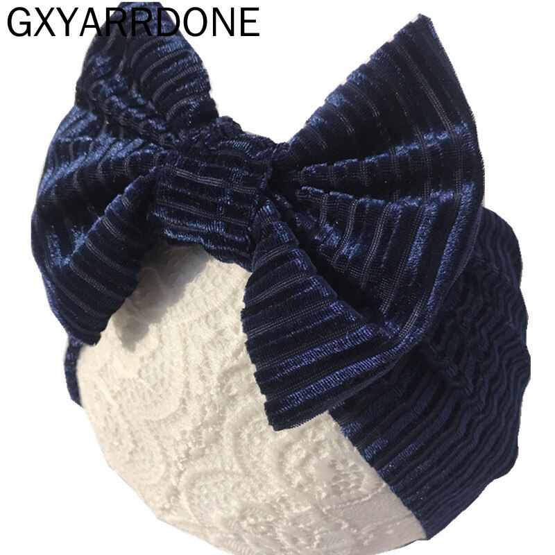 2020 bebé niñas 4,5 pulgadas arco diadema turbante Lazo de terciopelo envolturas cabeza niños recién nacidos Haarband nudo diadema accesorios para el cabello