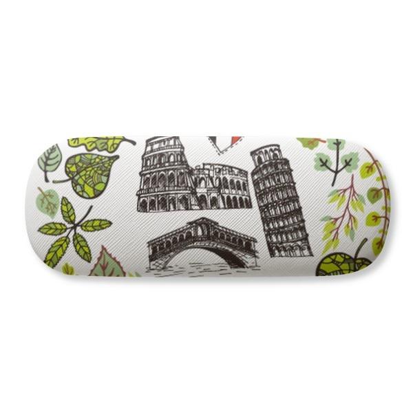 Funda para gafas Colosseum Pisa Rialto puente Italia gafas estuche para almejas
