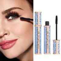 starry sky 4d silk fiber mascara galaxy tube thick curling slender lengthening sunflower waterproof rimel maquiagem makeup tslm2
