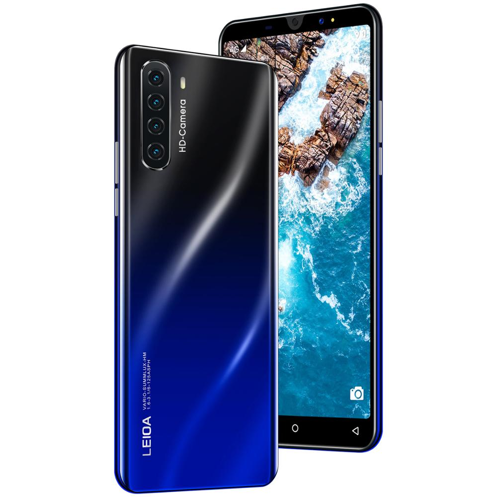 Hot Sell New 5.0 inch P40 mini Smart Android 9.1 Face ID Octa Core 4 Camera 4G Global Version smartphone Send mobile phone case