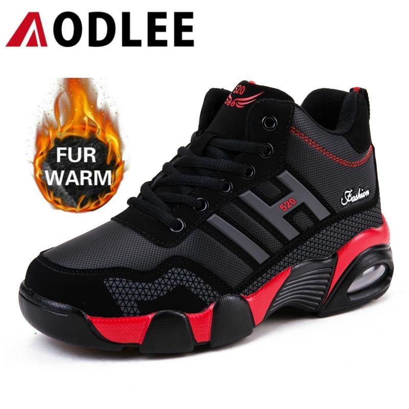 AODLEE Winter Men Boots Plush Warm Waterproof Snow Boots for Men Sneakers Cushion Ankle Boots Men Outdoor Shoes botas hombre