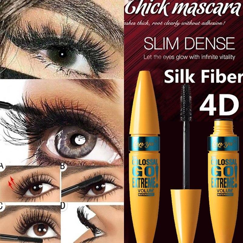 Pudaier Make Up 4d Fiber Lash Mascara Curling Make Up Mink Mascara Thick Fiber Density Waterproof Cosmetic Long-lasting Curling недорого