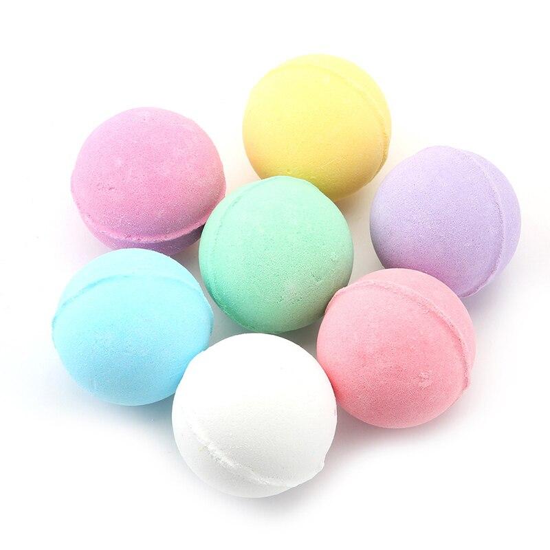 Nueva Bola de sal de baño orgánica de 1 Uds. Bola de bombas de baño de burbujas naturales Bola de té verde rosa lavanda leche de limón