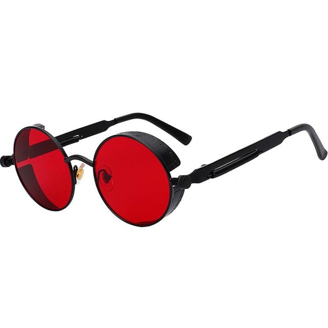 2021 Metal Steampunk Sunglasses Men Women Fashion Round Glasses Brand Design Vintage Sun Glasses High Quality Oculos de sol