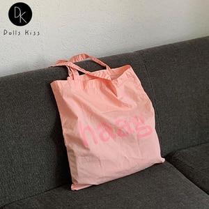 Ladies Canvas Shoulder Bag Female Sweet Pink Niche Design Handbag Women Casual Shopping Bag Grocery Bag and Tote Bag for Girls