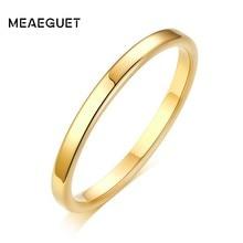 Женское кольцо из нержавеющей стали, золотое, плоское, 2 мм, желтое, розовое, золотистого и серебристого цвета, на свадьбу, помолвку