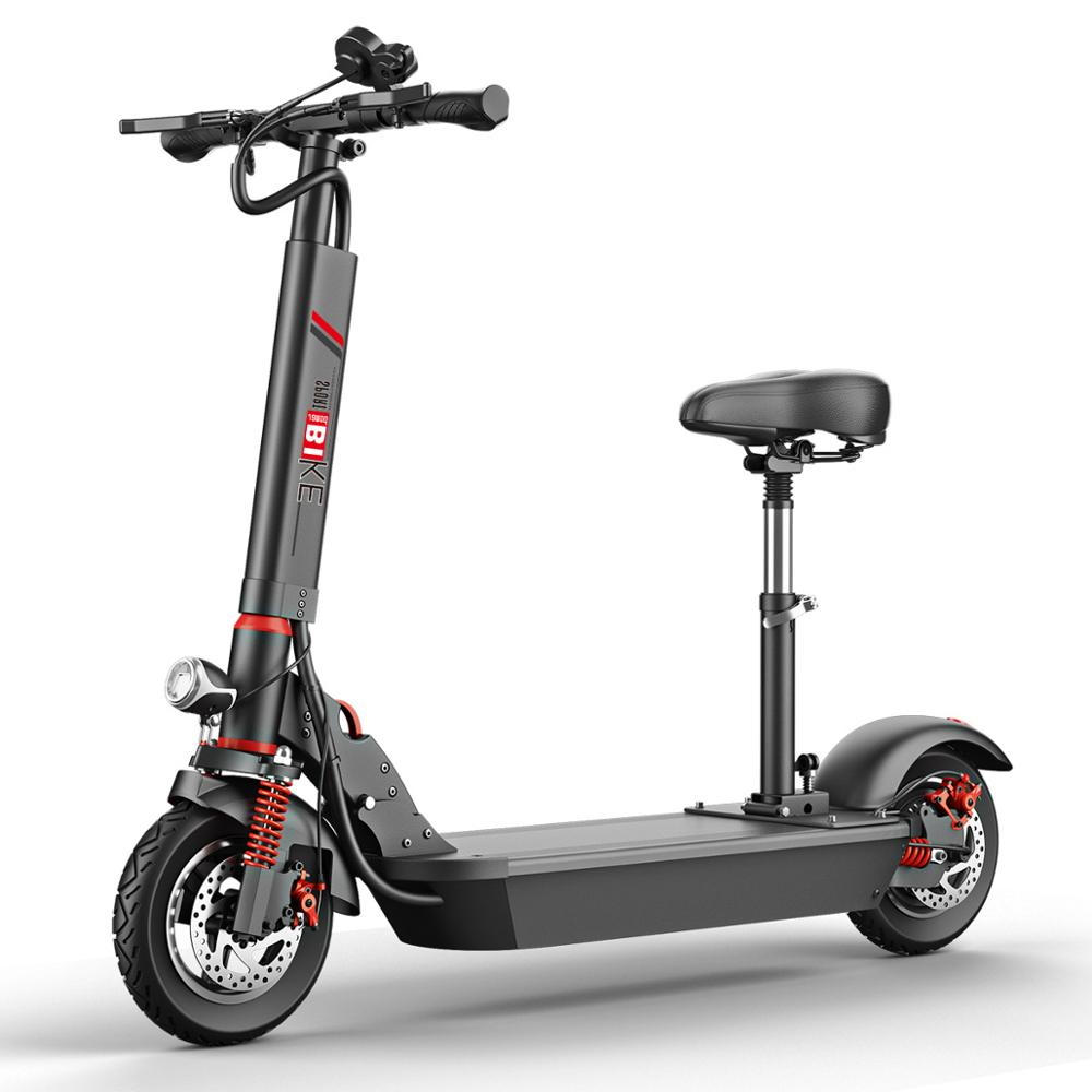 three wheel electric tricycle 8 inch 3 wheels electric bicycles seat max range 50km 48v 500w foldable kick electric scooter 10 Inch Portable Folding Scooter 500W Electric Scooter With Seat Small City Motorcycle With Color Screen