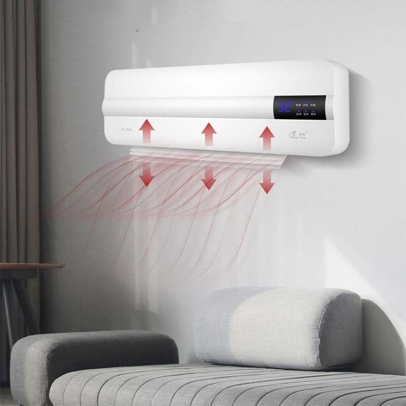 Ventilador de calefacción portátil montado en la pared con ahorro de energía, temporizador doméstico, control remoto con wifi y termostato