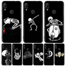 Drôle danse squelette noir housse de téléphone pour Xiaomi Redmi Note 8T 10 9S 8 7 8A 7A 6A Mi 10 9 8 CC9 K20 Pro Lite Coque