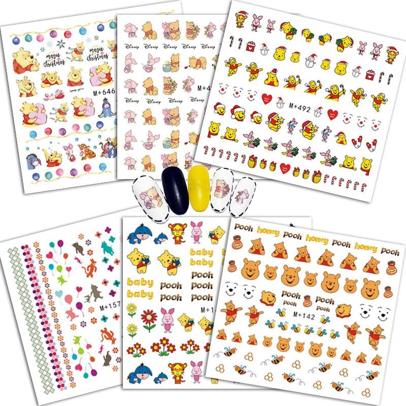 AliExpress - Winnie ther Pooh Nail Stickers Aesthetic Anime Figure Bear Disney Tigger Piglet Eeyore Cartoon Cute Children Toys For Girls 2021