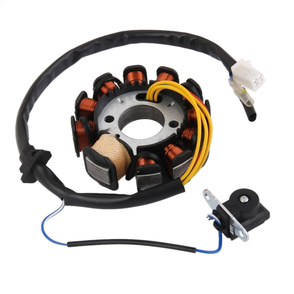 Ignição magneto estator placa 11 pólo de alta qualidade para gy6 125 150