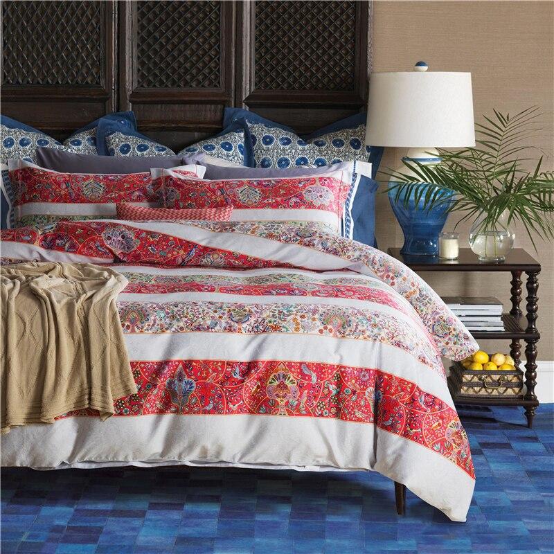 1600TC algodón egipcio boda juego de cama tamaño king queen doona/edredón funda de sábanas planas almohadas juego de ropa de cama