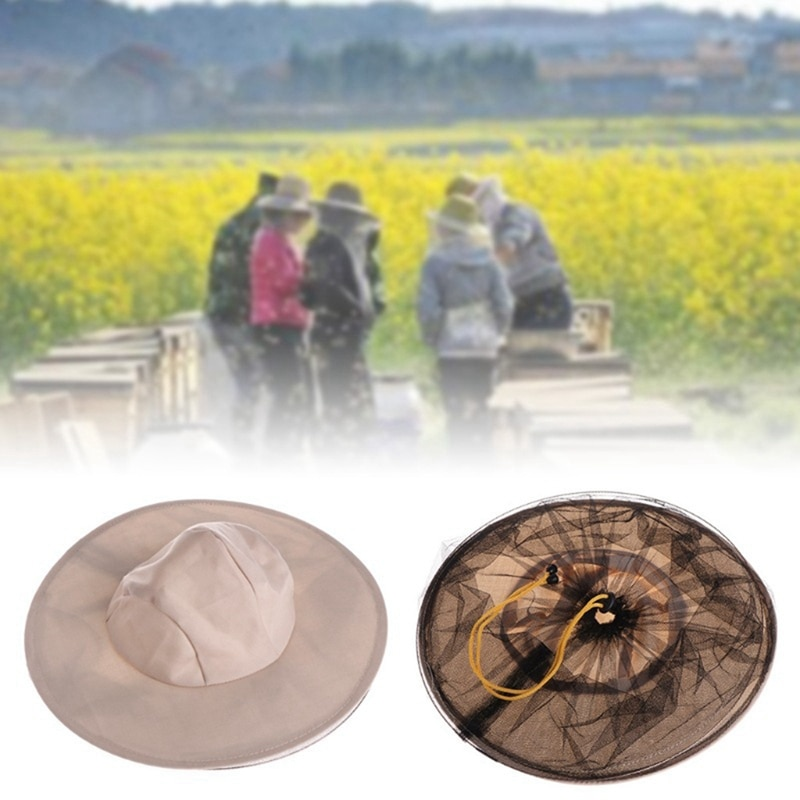 Тканевая нейлоновая сетчатая Защитная шляпа для пчеловода от пчелиная шапка, защитная Кепка для пчеловода, удобная шляпы из пряжи для пчело...