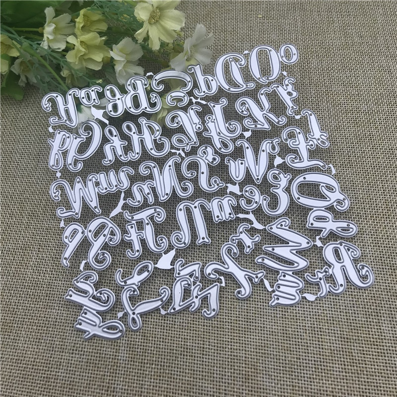 Alphabet Letter craft Metal Cutting Dies Stencils For DIY Scrapbooking Decorative Embossing Handcraft Die Template