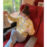 fall 2021 autumn women new hot selling crop top sweater cardigan women korean fashion netred casual knitted ladies tops bay211