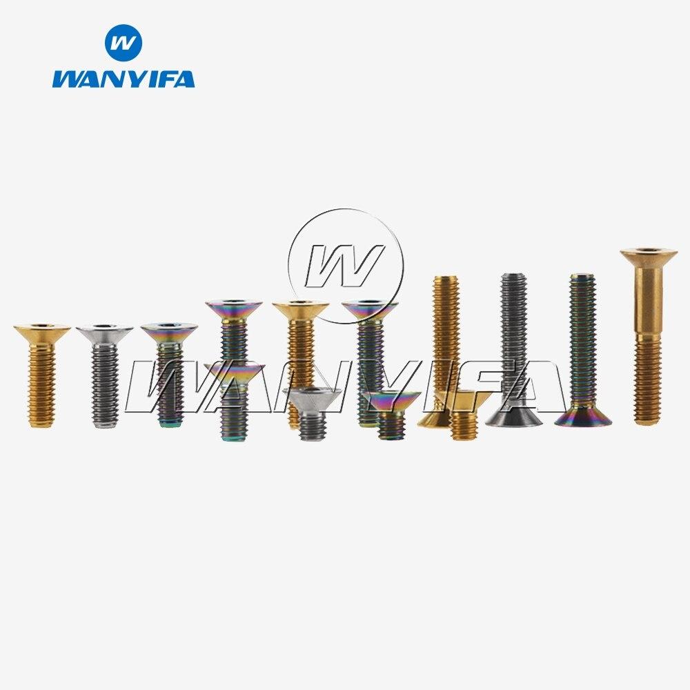 Wanyifa Titan Ti M6 x 10 15 20 25 30 35mm Allen Schlüssel Flachen Senkkopf Schraube Bolzen