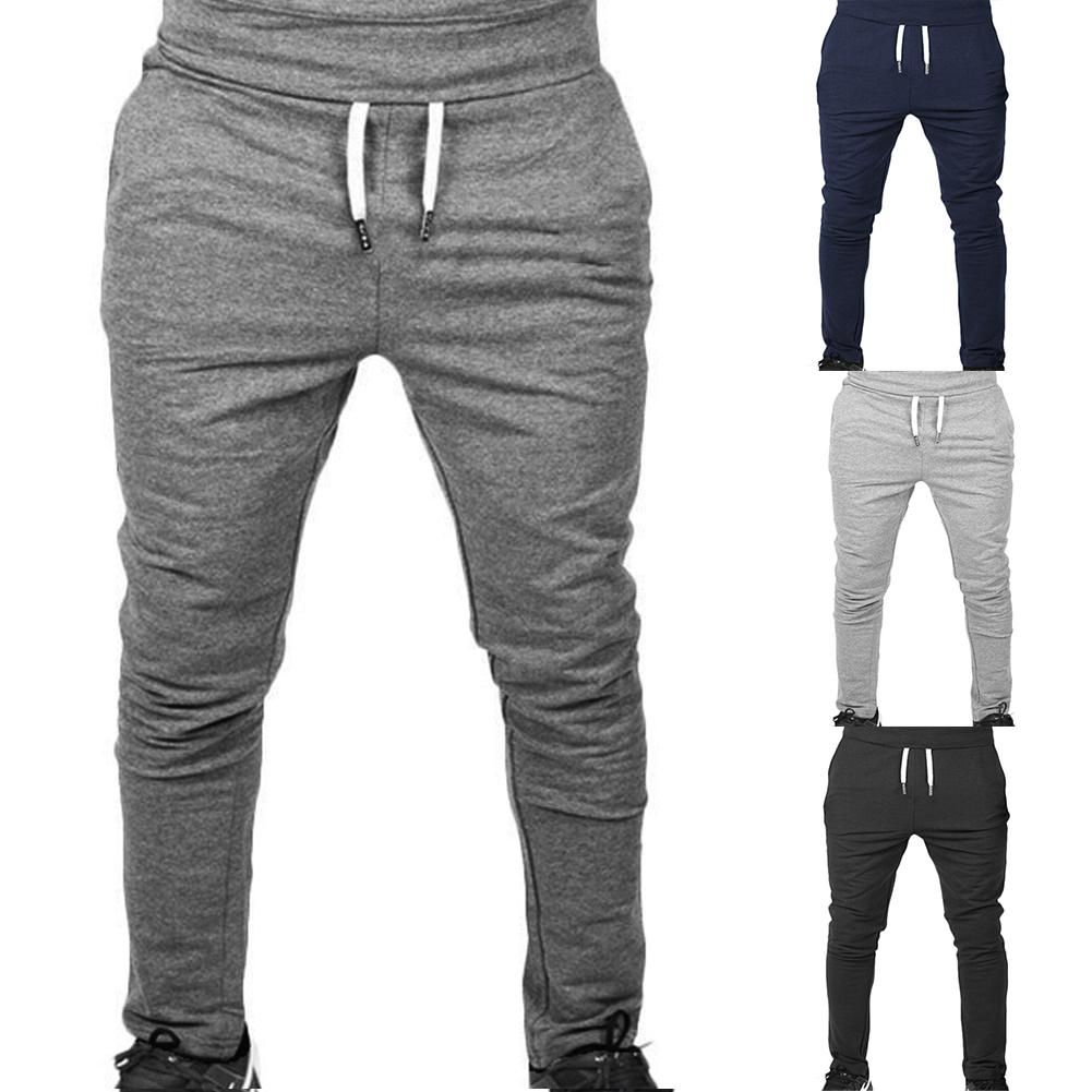 jogging pants men Sport Pencil Pants Men Cotton Soft Bodybuilding Joggers Gym Trousers Running Pants Men running