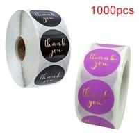 1000pcs white paper label sticker thank you sticker scrapbook 1 inch wedding envelope seal handmade stationery sticker