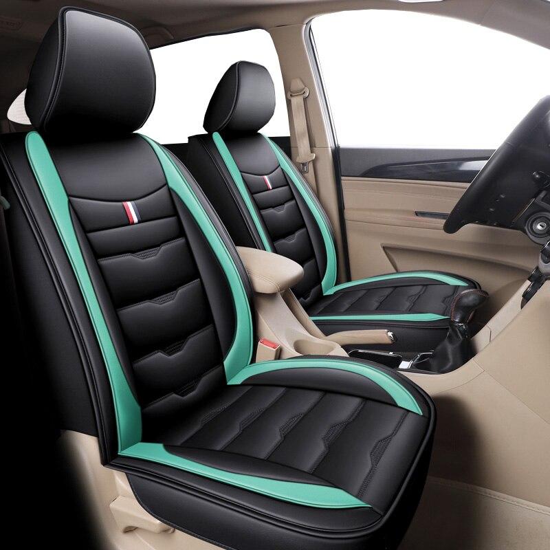 غطاء مقعد سيارة من الجلد لمازدا 2 3 6 CX3 CX5 Axela Koeru Millenia CX-7 Alenza دايو ماتيز Nexia Lanos Kalos Evanda Magnus