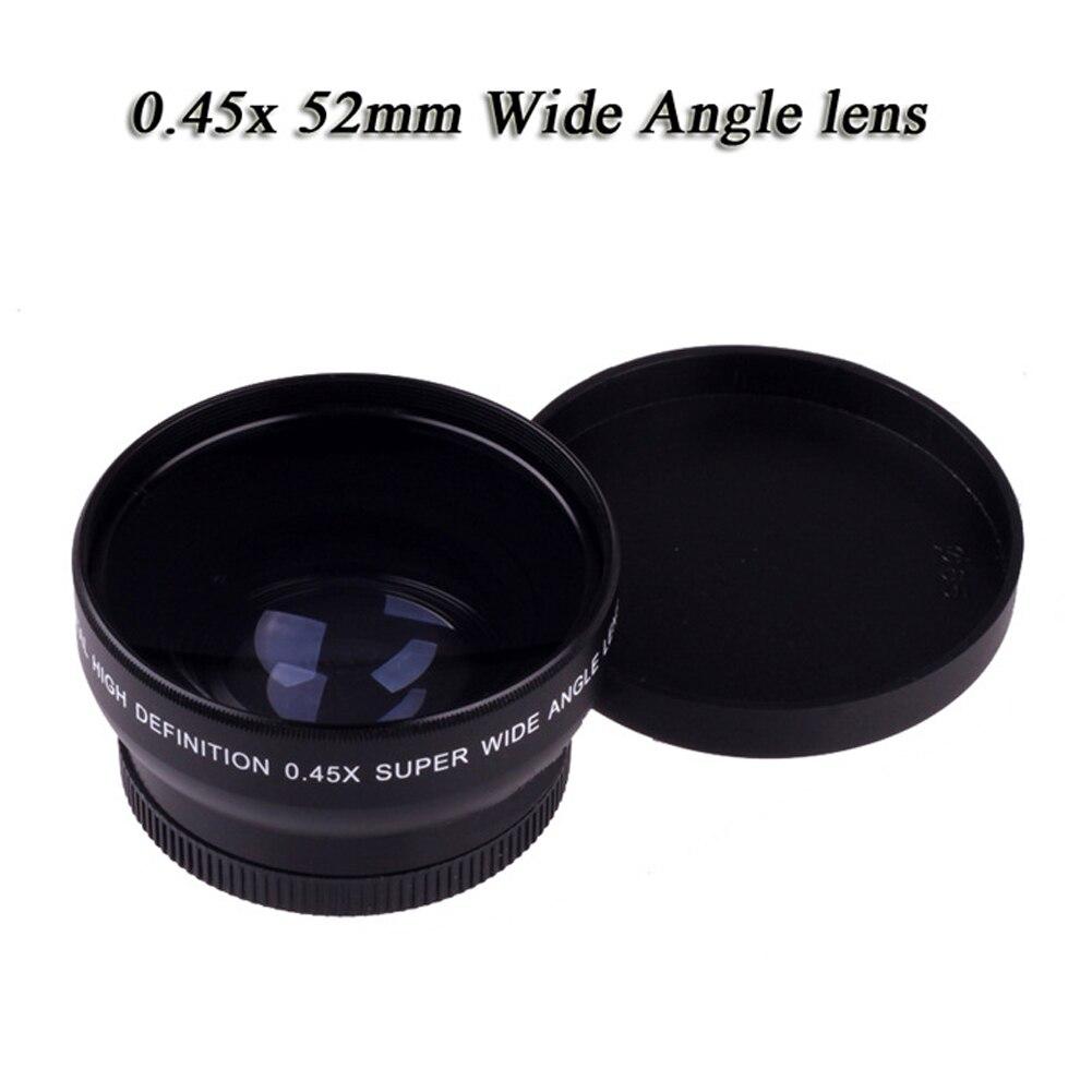 55mm 0,45x ojo de pez objeto paisaje claro accesorios para el hogar Macro Pantalla de imagen gran angular lente fotográfica para Nikon D70 D3200