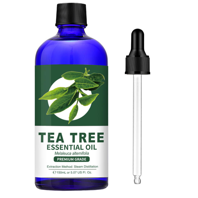 LAGUNAMOON Tea Tree Essential Oil 150Ml 100% Pure Natural With Therapeutic Grade Moisturizing Anti-w