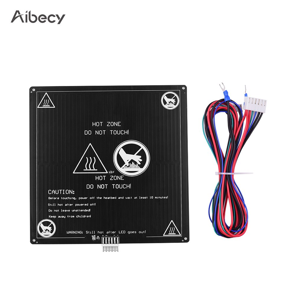Aibecy cama caliente de aluminio 12V 220*220*3mm con Cable calefactado juego de plataforma para Anet A8 A6 piezas de impresora 3D